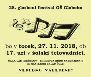28. glasbeni festival na OŠ Globoko
