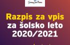 RAZPIS ZA VPIS V GLASBENO ŠOLO BREŽICE 2020/2021